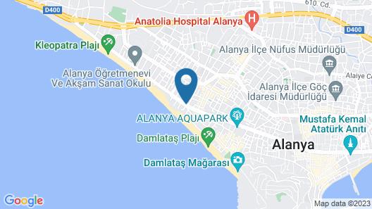 Alaiye Kleopatra Hotel Map