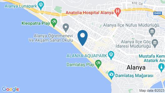 Alaaddin Beach Hotel-Adults Only Map