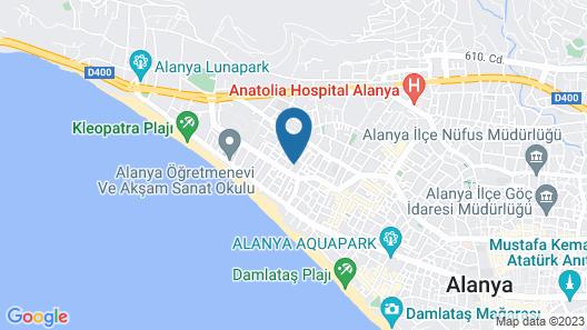 Cleopatra Taç Otel Map