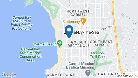 La Playa Carmel Map
