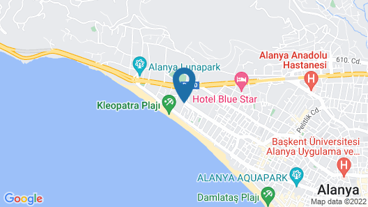 Kleopatra Royal Palm Hotel - All Inclusive Map