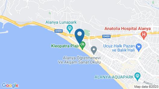 Kleopatra Ada Beach Hotel Map