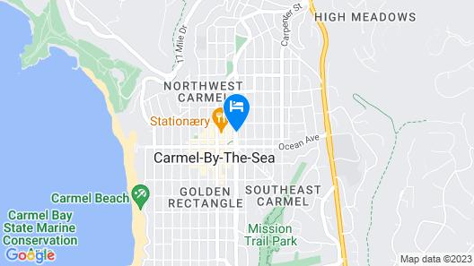 Carmel Bay View Inn Map