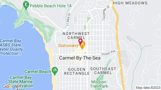 Best Western Carmel's Town House Lodge Map