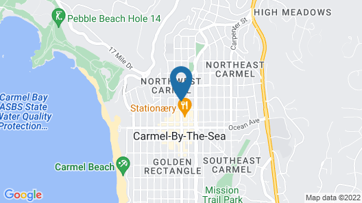 Carmel Fireplace Inn Map