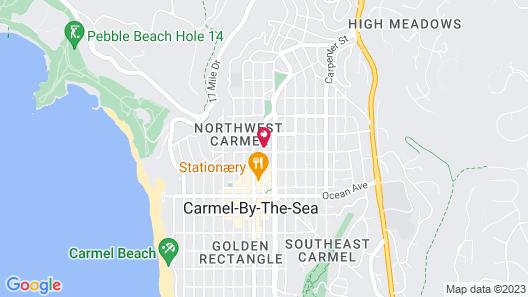 Carmel Wayfarer Inn Map