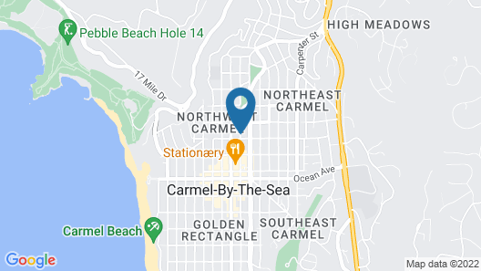 Carmel Wayfarer Inn Map