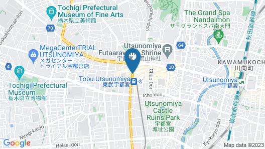 Toyoko Inn Tobu Utsunomiya-eki Nishi-guchi Map