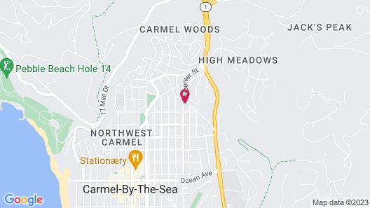 Vendange Carmel Inn & Suites Map