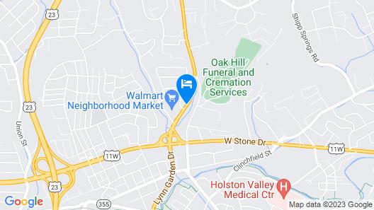 Travel Inn Kingsport Map