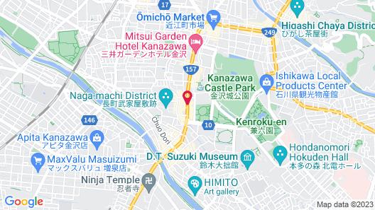 Hotel Trusty Kanazawa Korinbo Map