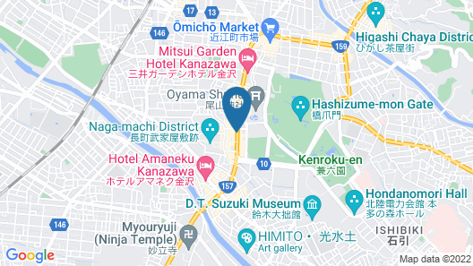 Toyoko Inn Kanazawa Kenrokuen Korimbo Map