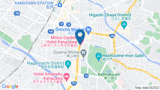 Mitsui Garden Hotel Kanazawa Map