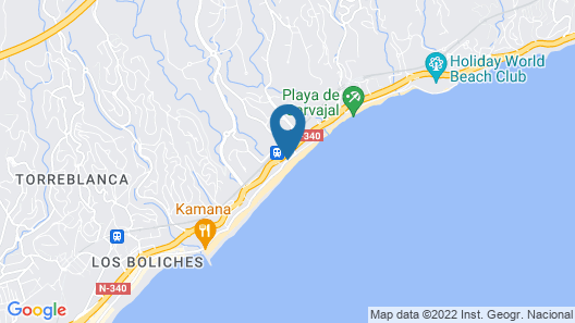 Apartamentos Fuengirola Playa Map