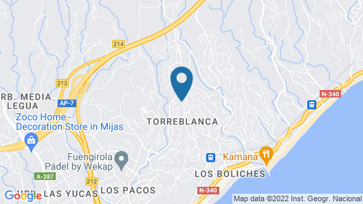Unbeatable Penthouse in Fuengirola Hills Map