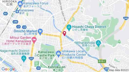 Zenroku Hotel Kanazawa Map