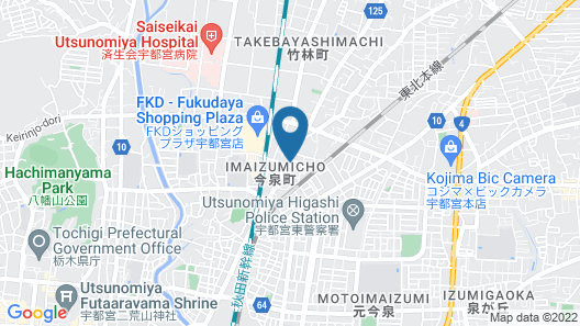 Hotel Select Inn Utsunomiya Map