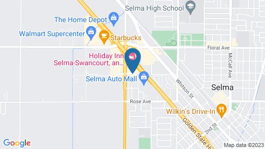 Holiday Inn Selma - Swancourt Map