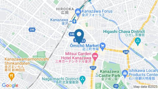 Kanazawa Machiya Aburaya Map