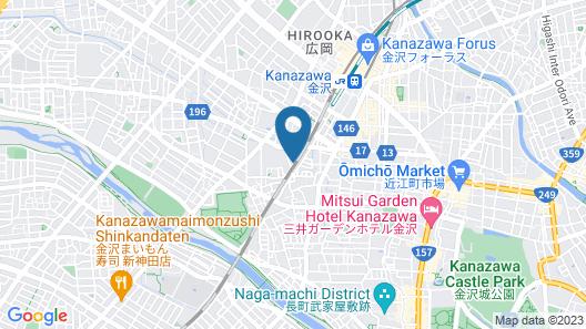 INOVA Kanazawaekimae Hotel suite Map