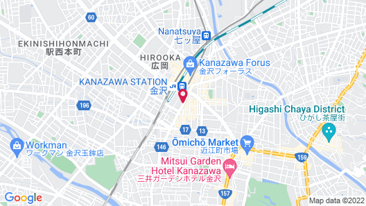 Hotel Nikko Kanazawa Map