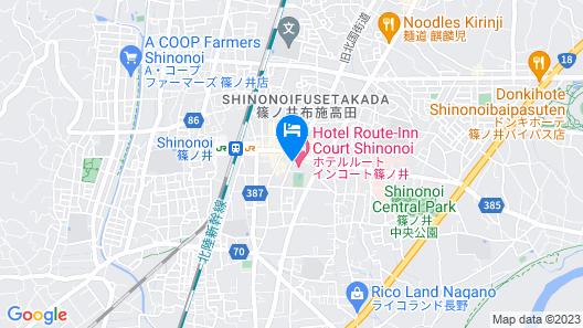 Hotel Route-Inn Court Shinonoi Map