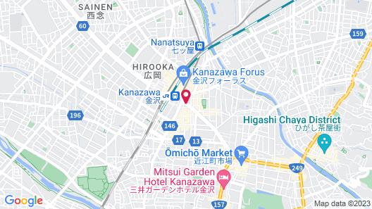 Garden Hotel Kanazawa Map