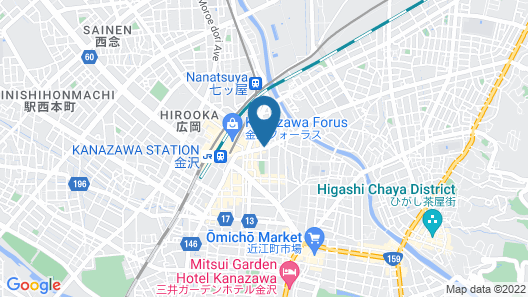 Horikawa Hostel Map
