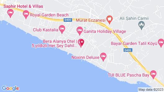 Bera Hotel Alanya - All Inclusive Map