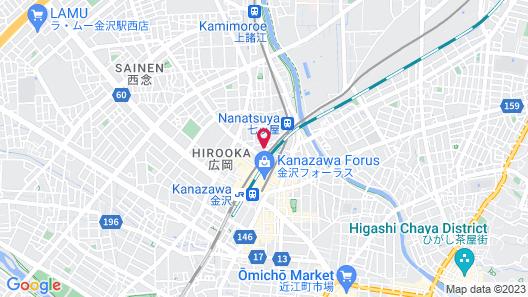 Kanazawa Manten Hotel Ekimae Map