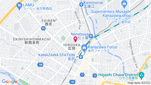 R&B Hotel Kanazawa-eki Nishi-guchi Map