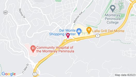 Red Lion Hotel Monterey Map