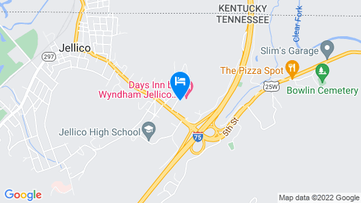 Days Inn by Wyndham Jellico - Tennessee State Line Map
