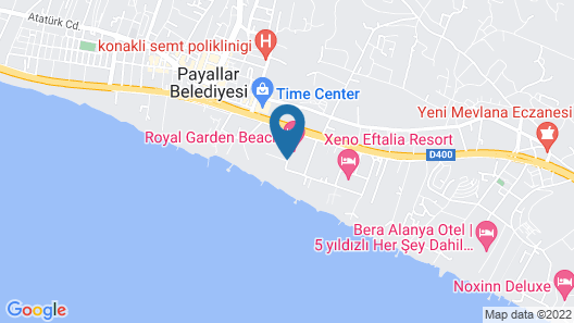 M.C Beach Park Resort Hotel All Inclusive Map