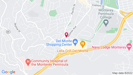 Monterey Pines Inn Map
