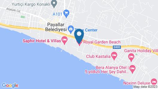 Royal Garden Beach Hotel - All Inclusive Map