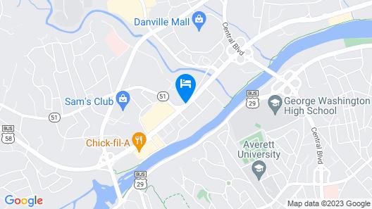 Astoria Hotel Danville West Map