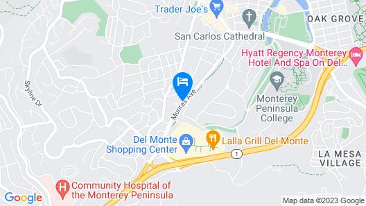 Monterey Surf Inn Map