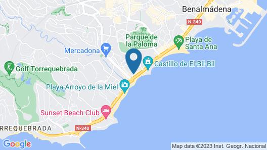 Medplaya Hotel Balmoral Map