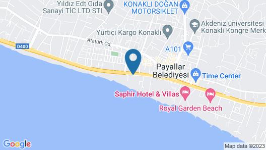 Club Turtas Beach Hotel - All Inclusive Map