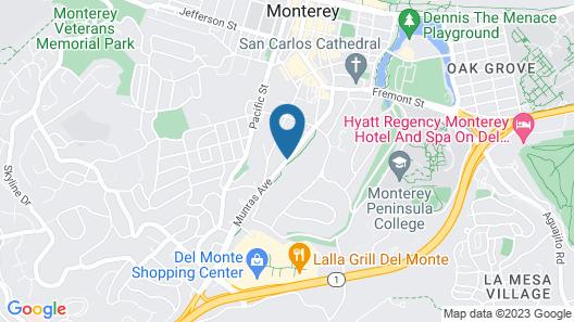 Arbor Inn Monterey Map