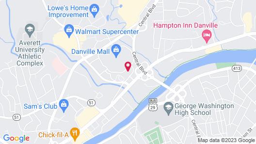 Comfort Inn & Suites near Danville Mall Map