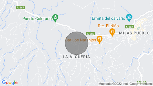 Casa del Cielo - Your Retreat or Remote Work Location in Beautiful Mijas, Spain Map