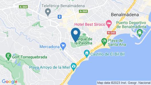 Benal Beach Sea Front Studio Map