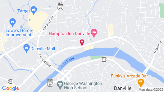 Courtyard by Marriott Danville Map