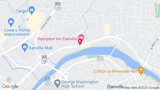 Hampton Inn Danville Map