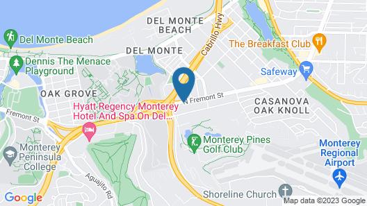 Travelodge by Wyndham Monterey Bay Map