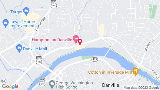 Holiday Inn Express Danville Map