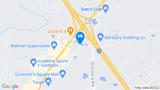 Hampton Inn & Suites Clarksville Map
