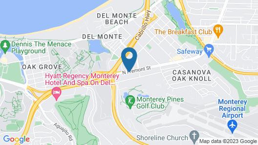 Blu Pacific Hotel Map